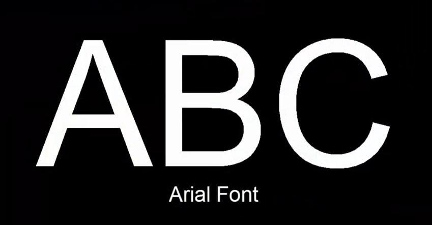 font arial