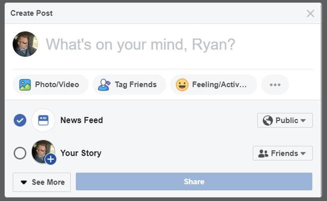 tạo bài viết facebook